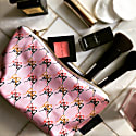 Ballet Blush Cotton Cosmetic Bag - Pink image