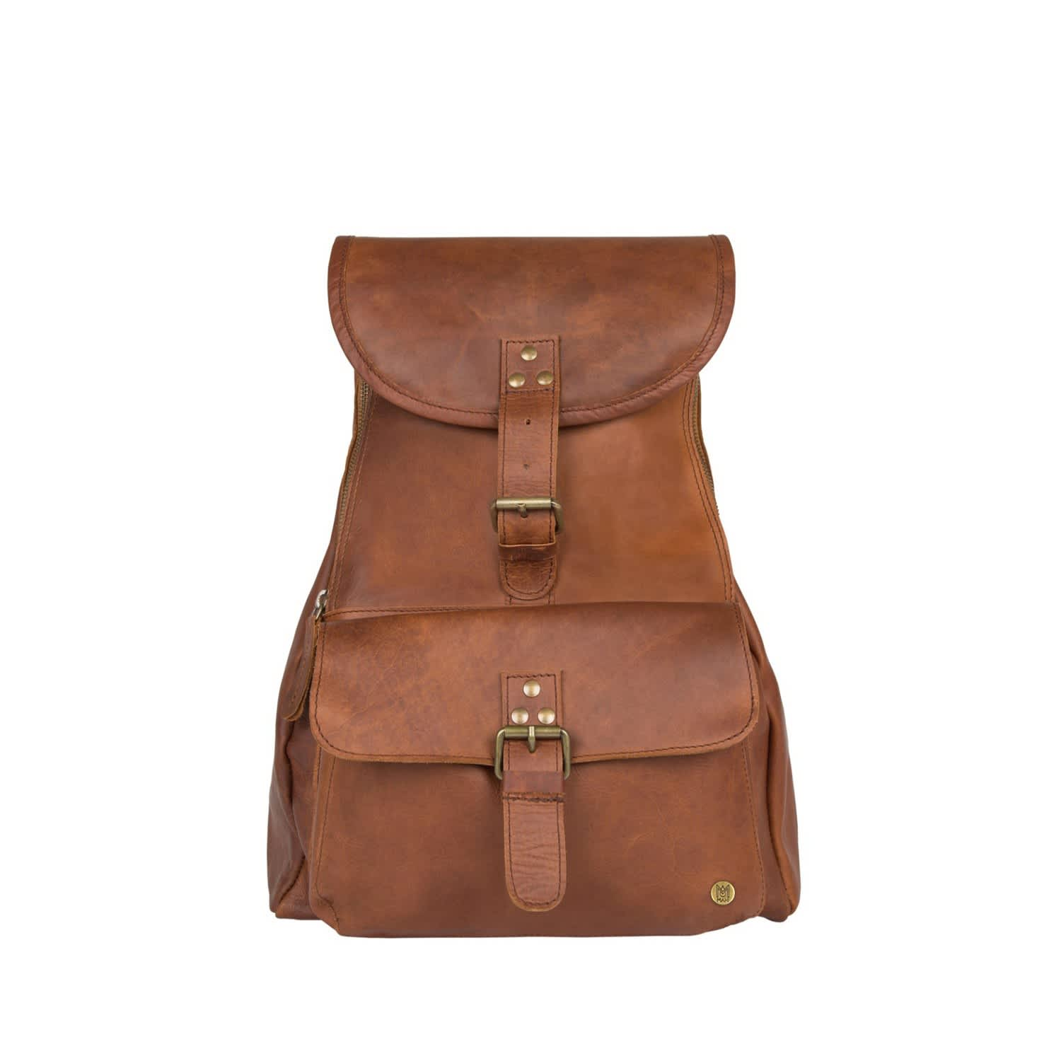 1a9c1931fc4 Leather Explorer Backpack/Rucksack Womens In Vintage Brown by MAHI Leather