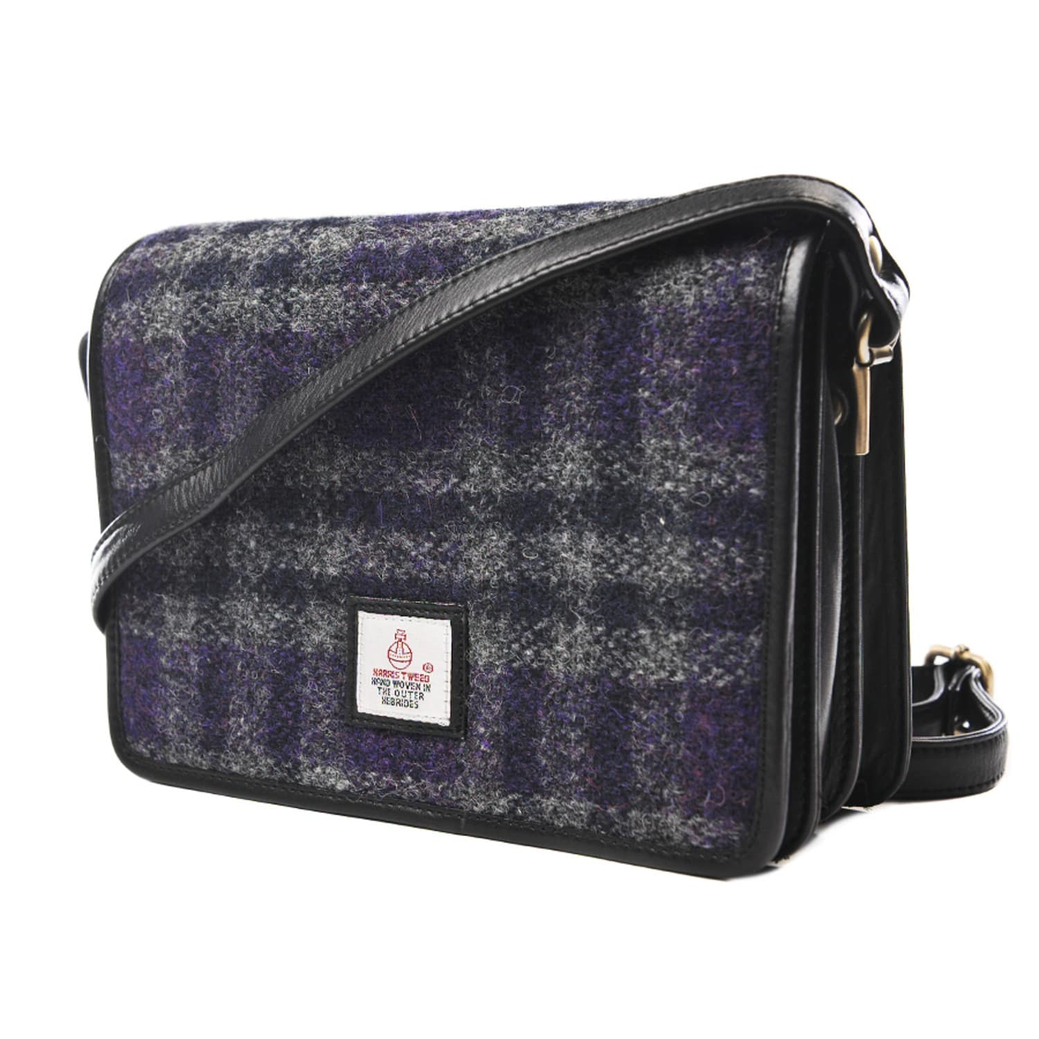 3286a1ebcfab Purple Harris Tweed Cross Body Bag image