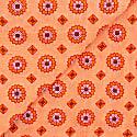 Floral Cotton Foulard - Coral image