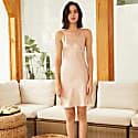 22Mm Organic Silk Dress Elegant V-Neck-Marilyn Beige image