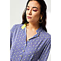 Midi Anastasia Dress Blue Stripey Triangle Print image