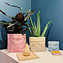 Colour Concrete Paper Bag Large Pink image