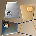 Trapezium Necklace Silver image