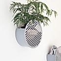 Diagonal Wall Basket In Grey image