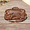 Front Pocket Genuine Leather Holdall In Vintage Brown image