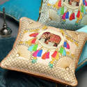 Agra Pink Silk Cushion image