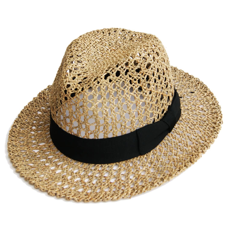 217956db2c45a4 Fedora Crochet Straw Hat | Justine Hats | Wolf & Badger