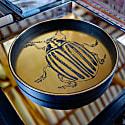 Vegan Leather Gold Scarab Beetle Tray image