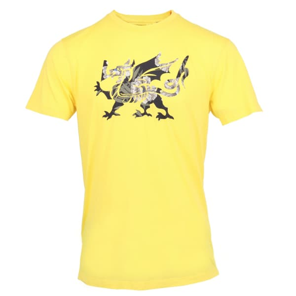 LORDS OF HARLECH Rob Dragon Tee In Yellow