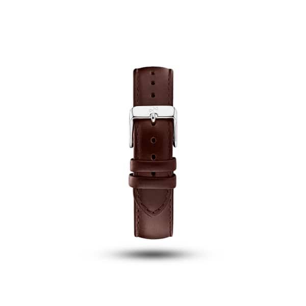 ABOUT VINTAGE Dark Brown Leather Strap & Steel