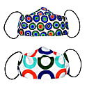 2 Pack Triple Layer Cotton Face Masks With Nose Wire Circles image