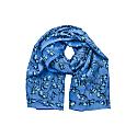 Lotty B Sarong In Silk Crepe-De-Chine Flamboyant Flower - Blue image