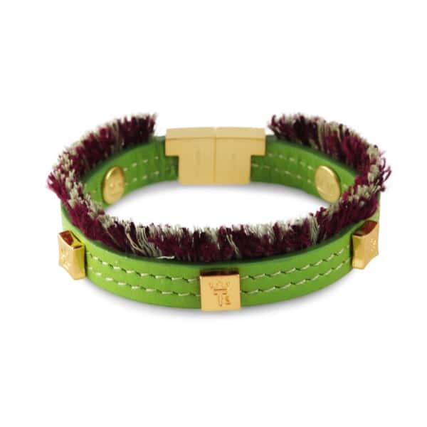 TISSUVILLE Flik Mini Bracelet Green Gold