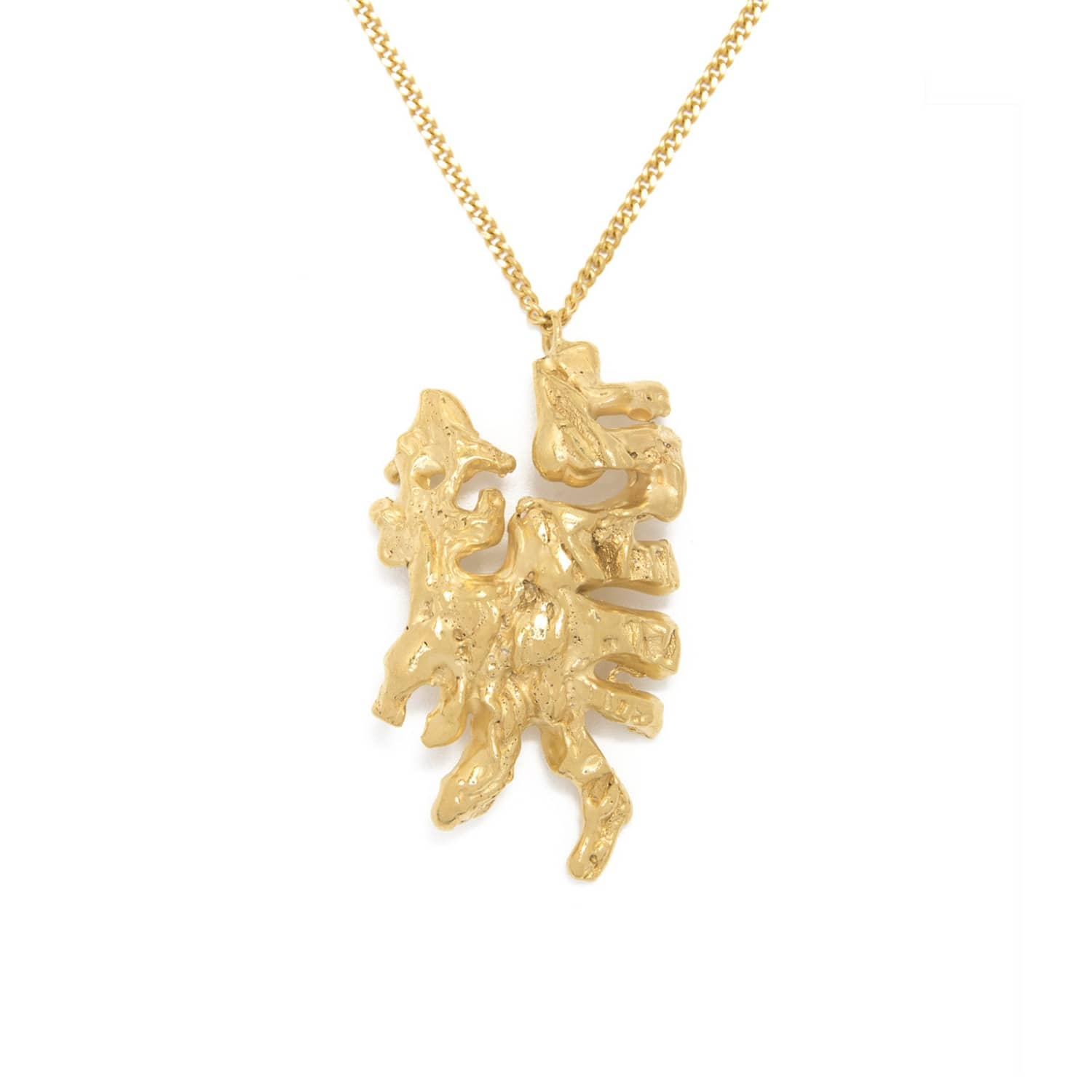 Chinese Zodiac Dragon Horoscope Gold Pendant Necklace by Loveness Lee
