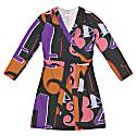 Terez Grid Numbers Print Wrap Dress image
