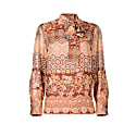 Lily Silk Blouse In Floral-Geometric Print image