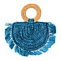Atta Warrior Raffia Straw Bag In Blue image