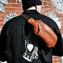 Classic Leather Bum Bag In Cognac image