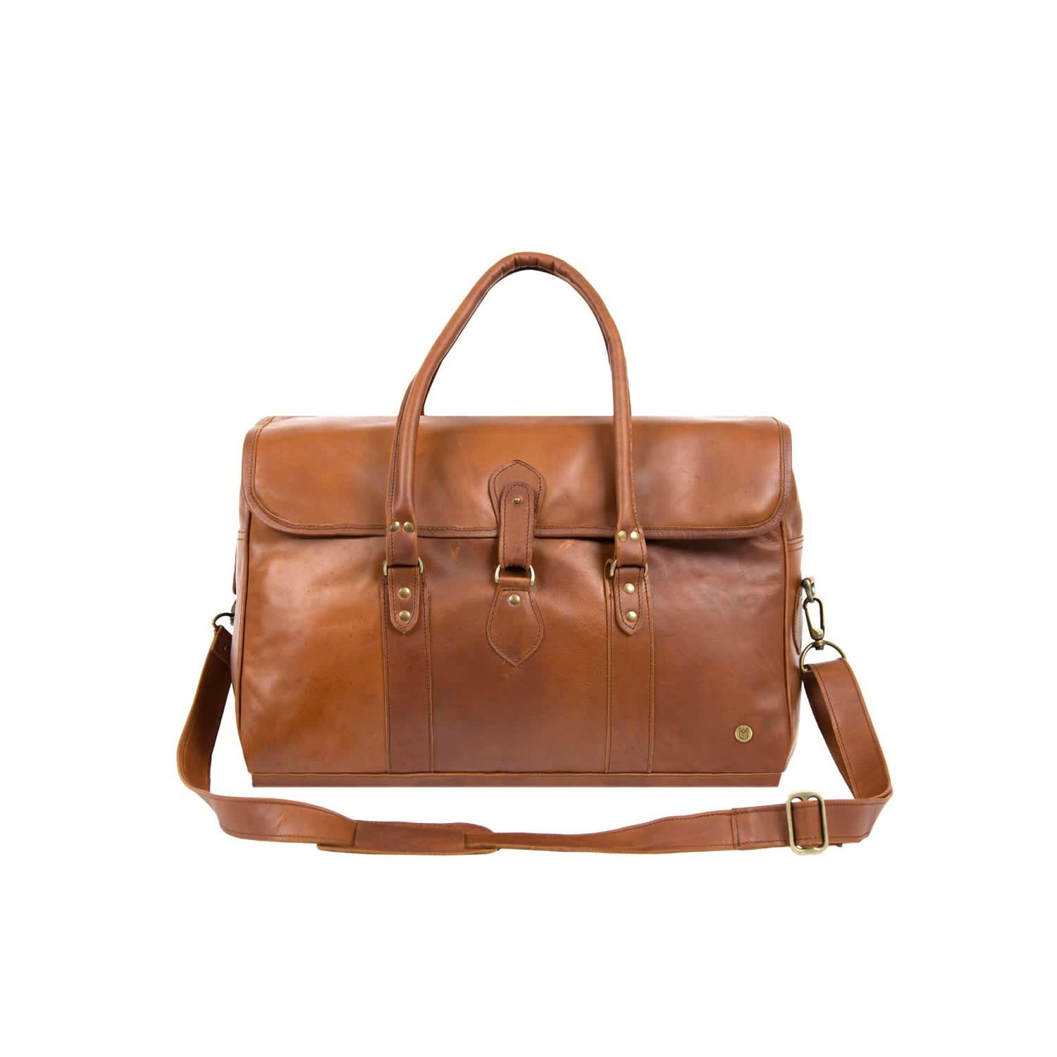 Leather Drake Holdall Weekend Overnight Bag In Vintage Brown  f8df9905bc2b2