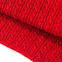 Red Small Braided Wool & Cashmere Scarf image