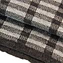 Charcoal Geometric Wool Scarf image