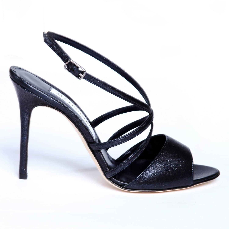 9b0a09488d Blue Jean Baby Navy Blue High Heel Sandals | Alexis Isabel | Wolf ...