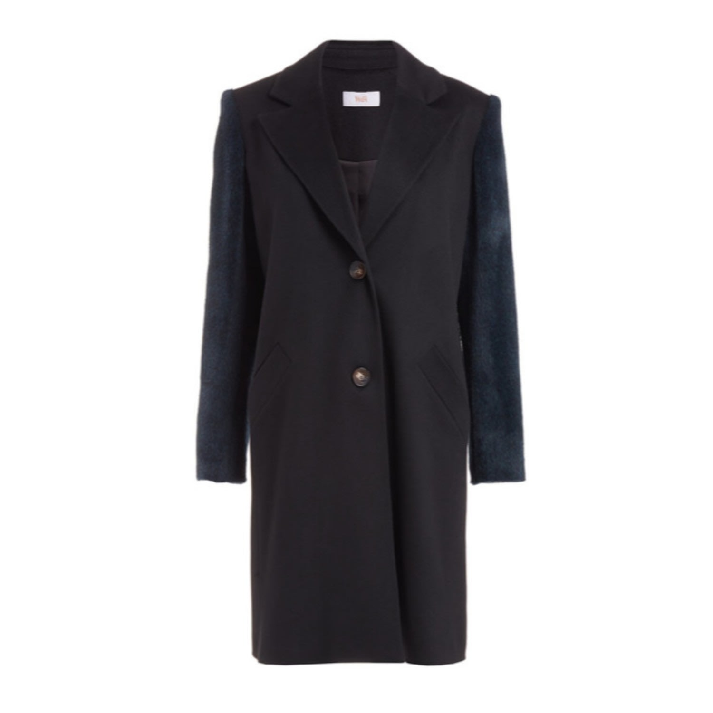 WtR - Serge Black Wool Alpaca Coat