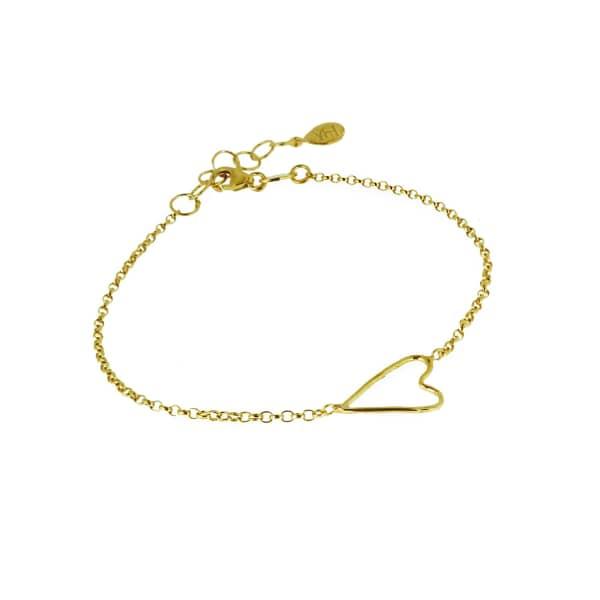 Open Wire Heart Bracelet