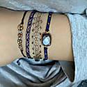 Lapis Lazuli Semi Precious Stones Handwoven Bracelet image