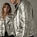 Men's Neo-Classic Biker Jacket In Silver image