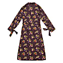 Geza Lame Flower Print Trench Coat image