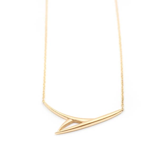 ANNA MACHADO JEWELRY One Leaf Necklace