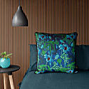 Electric Lagoon Blue Velvet Cushion image