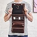 Hanging Dark Brown Leather Wash Bag image