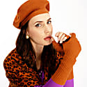 Brown Fallon Silk Cashmere Fingerless Gloves image