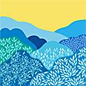 Silk Bandana Of Blue Rural Landscape image
