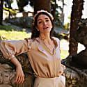 Isabelle Rose Gold Silk Blouse image