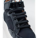 Alicia High Top Black Vegan Shine Trainer image