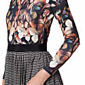 Alice Floral and Stripes Pleated Dress image