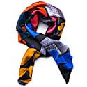Koi I Psychedelic Fringed Silk Twill Scarf image