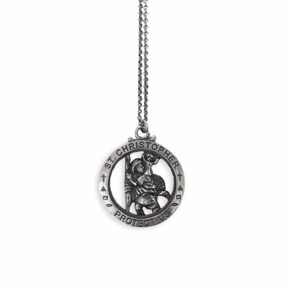 SERGE DENIMES Silver St Christopher Necklace