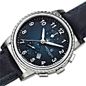 Bruno Magli Mens Dante 1002 Swiss Chronograph Quartz Italian Leather Strap Watch Blue image