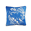 Banksia Wreath Blue Cushion image
