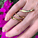 Boa Spiral Ring Dipped In Gold image
