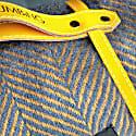 Waterproof Picnic Blanket Orange & Grey image