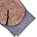 Jeans Blue Striped Melange Linen & Organic Cotton Socks image