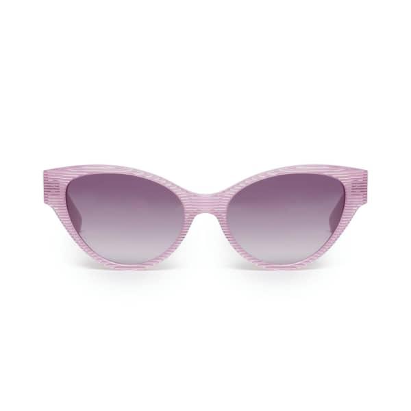 Pink Stripe Cateye Sunglasses