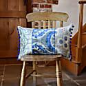 Pretty Grey & Blue Ikat Cushion image