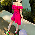 Summer Escape Dress In Fuchsia Pink image